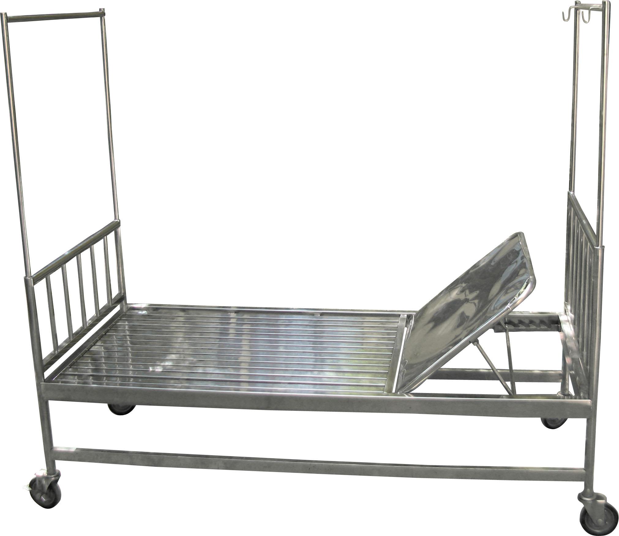 Thiết bị y tế - Inox y tế Giường bệnh nhân có bánh xe GBX 01