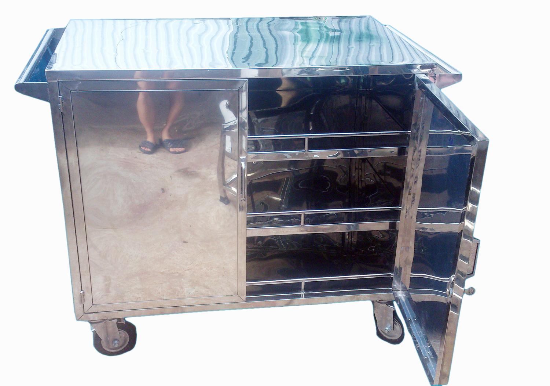 xe để đồ ăn bằng inox